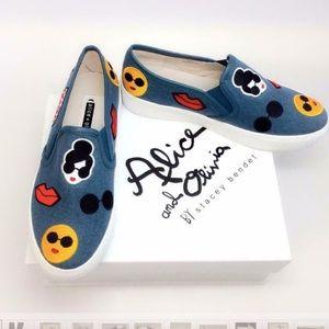 NWBox Alice + Olivia Pia Emoji Slip-On Sneakers
